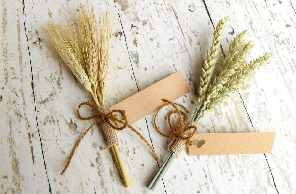 Mini Wheat Sheaf-Natural Thanksgiving Place Cards