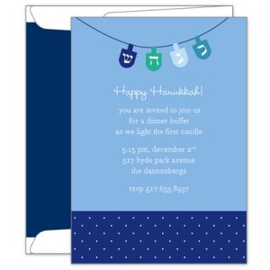 Oh Dreidel Hanukkah Party Invitations