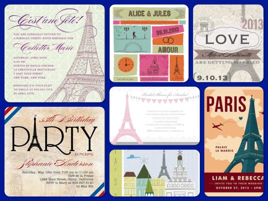 Paris Party  Invitations