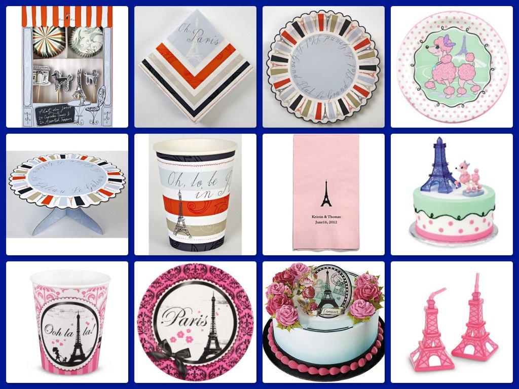 Paris Theme Party Paper Goods & Supplies