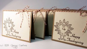 Happy Thanksgiving Turkey Place Cards