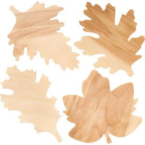 Wooden Fall Leaves Thanksgiving Place Cards