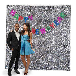 Floral Sheeting Photo Booth Backdrop
