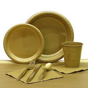 Gold Plastic Party Pack
