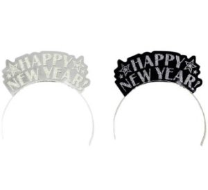 Happy New Year Glitter Assorted Tiaras