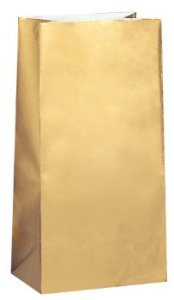 Metallic Gold Paper Party Bags