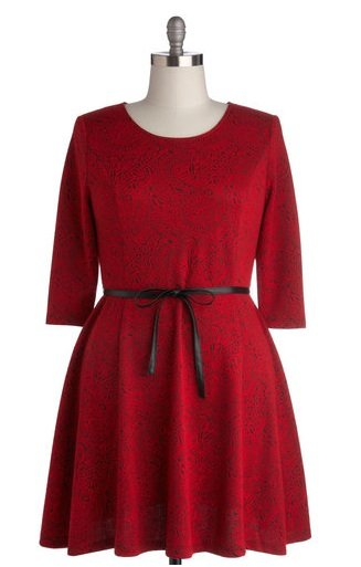 ModCloth Plus Size Red Party Dress