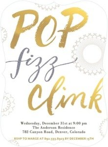 NEW YEAR NOISE- PEARLFLAT HOLIDAY PARTY INVITATIONS