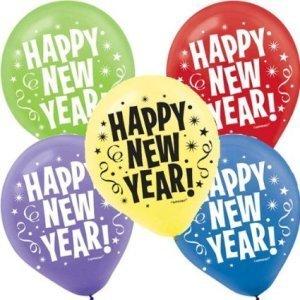 New Years Latex Balloons 20ct