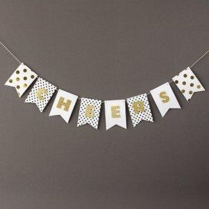 Personalized Mini Gold Glitter Banner
