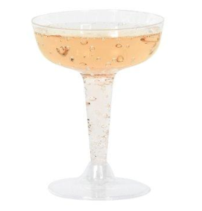 Plastic 4 oz. Champagne Glasses