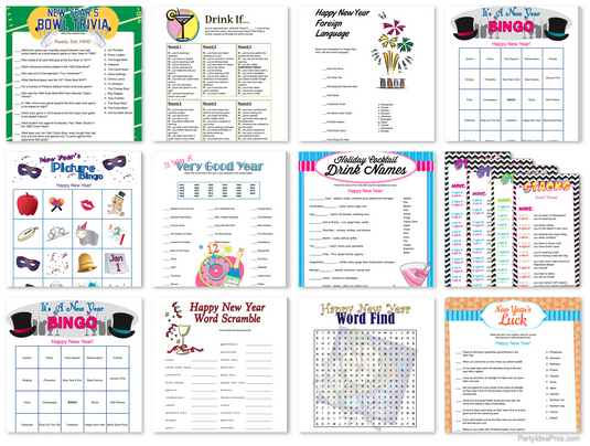 printable new years party games