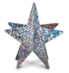 Silver 3D Prismatic Star Centerpiece