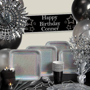Silver Prismatic Party Supplies
