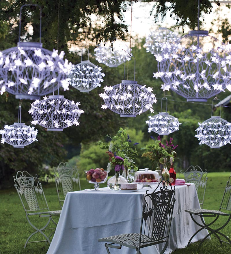 White Solar Ball Lanterns