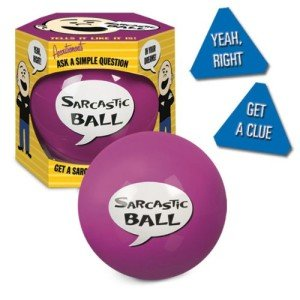 Accoutrements Sarcastic Ball, Holiday Grab Bag, White Elephant Gift Exchange, Stocking Stuffers & Gag Gift Ideas