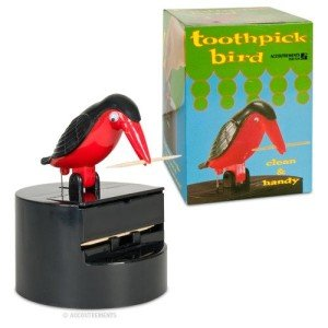 Bird Toothpick Dispenser, Holiday Grab Bag, White Elephant Gift Exchange, Stocking Stuffers & Gag Gift Ideas