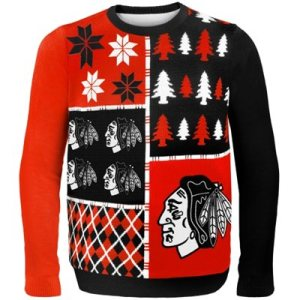 Chicago Blackhawks Busy Block Ugly Sweater