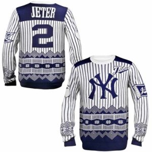 Derek Jeter New York Yankees Player Name and Number Ugly Sweater
