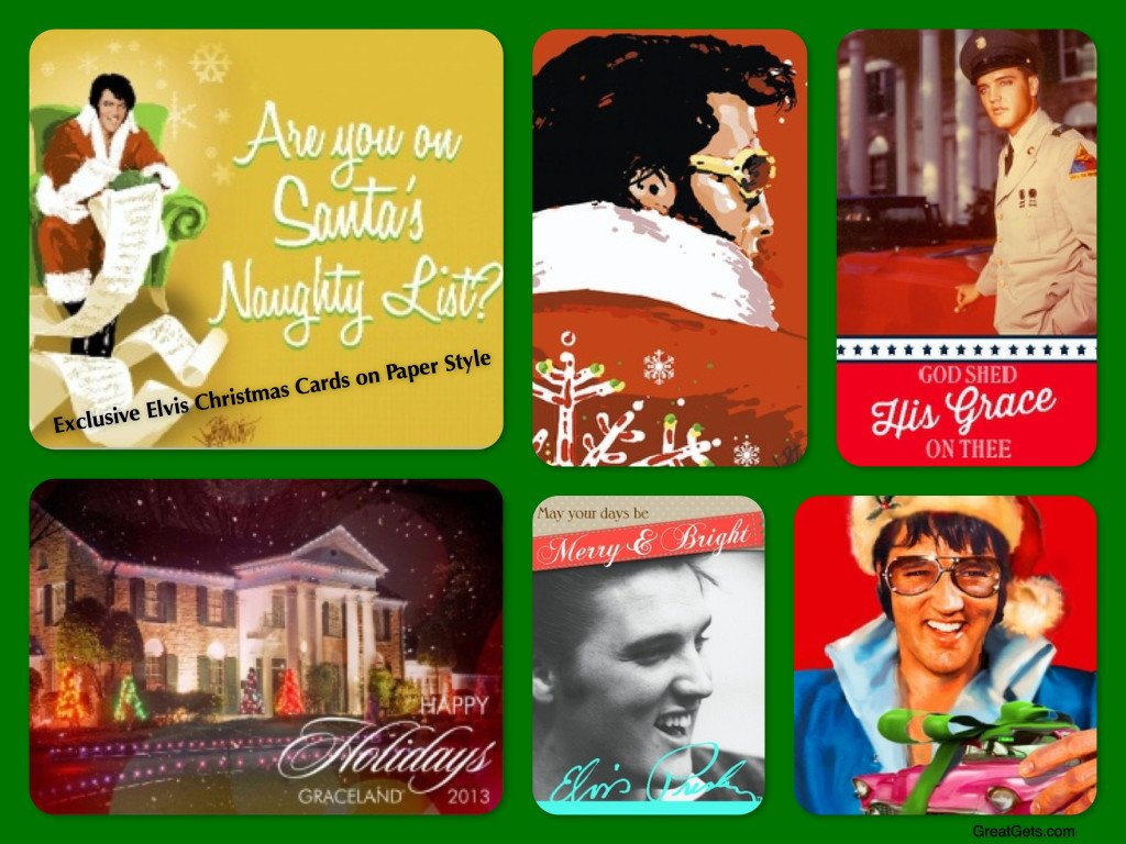 Elvis Christmas Cards, holiday cards, seasons greetings, Elvis Christmas Cards