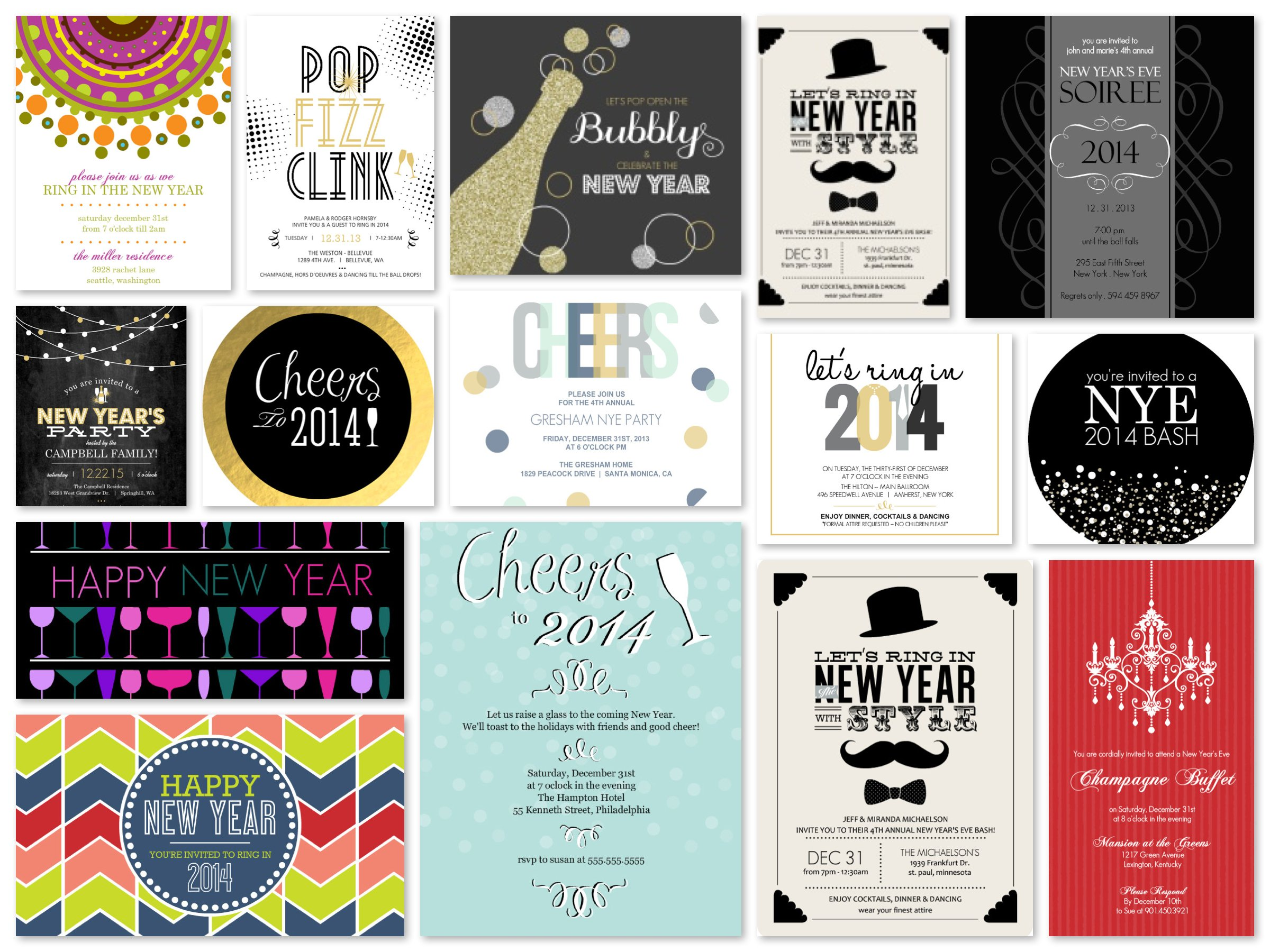 email chic last minute new years eve party invitations for free partyideaproscom
