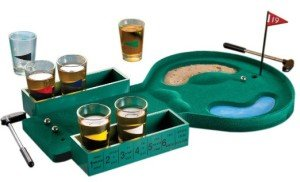 Golf shot glass drinking game