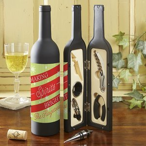 Making Spirits Bright Wine Bottle Personalized Accessory