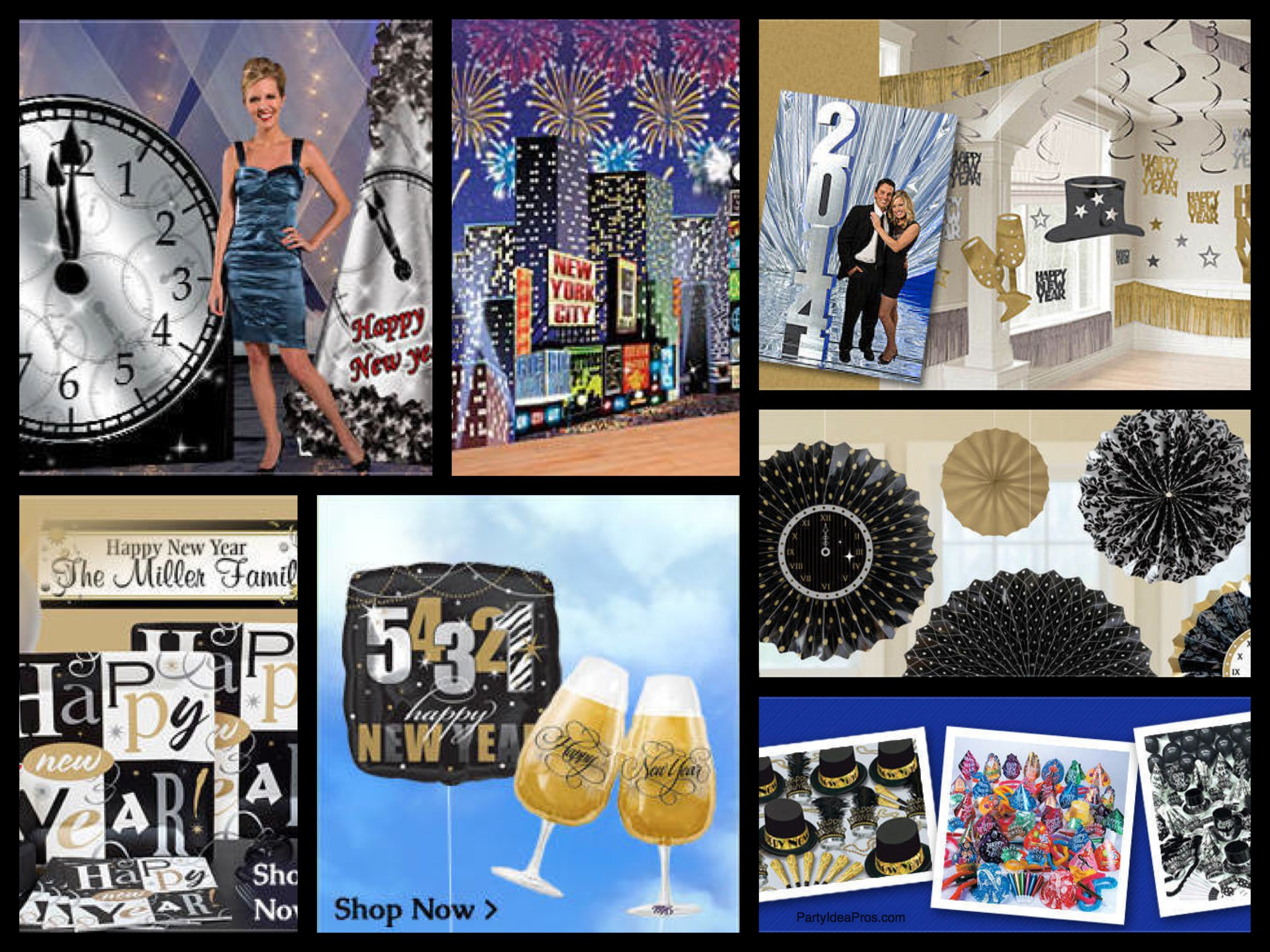 New Years Eve Decorations Party Supplies Partyideapros Com