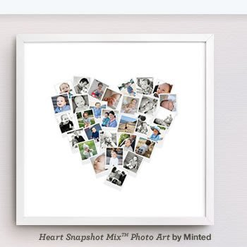Photo Heart Art, Christmas Gift Ideas