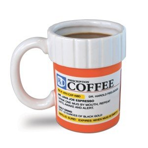 The Prescription Coffee Mug, Holiday Grab Bag, White Elephant Gift Exchange, Stocking Stuffers & Gag Gift Ideas