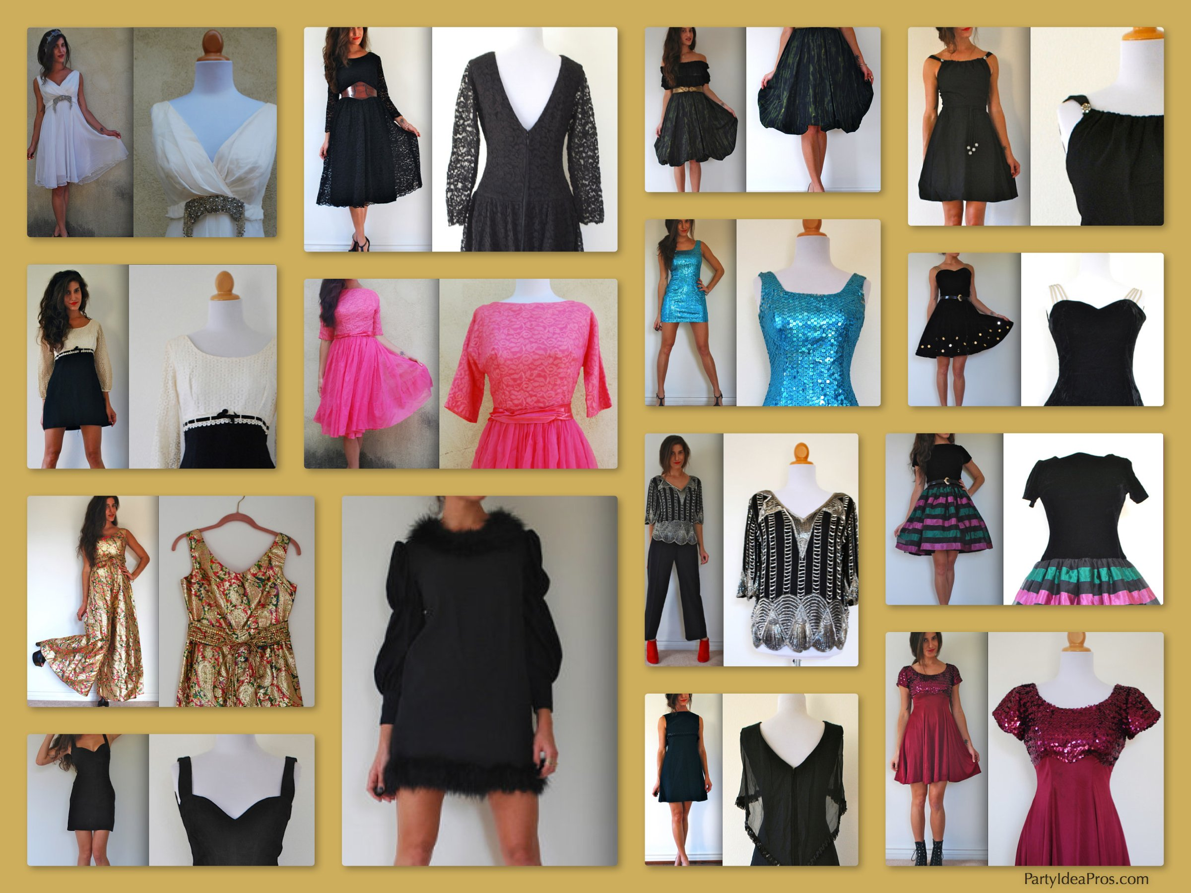 Vintage Dresses Perfect for New Year's Eve Celebrations!