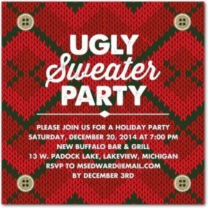 ugliest sweaters holiday party invitations