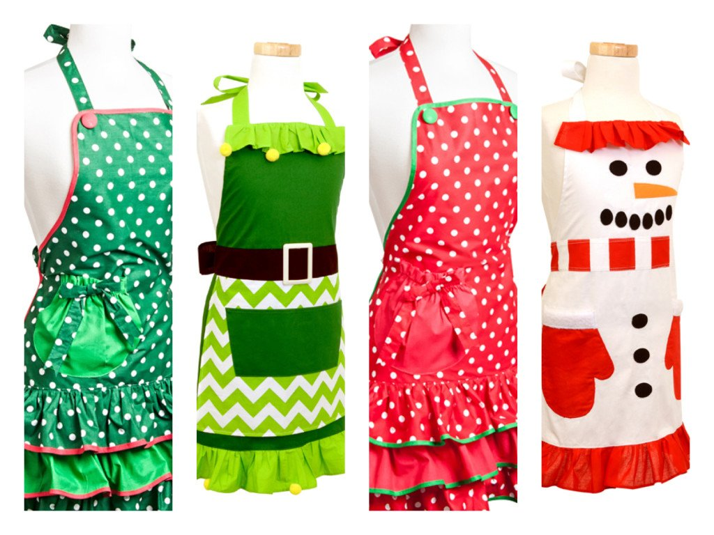 Flirty Holiday Aprons, Christmas Apron Sale