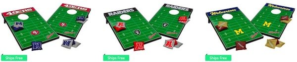 NFL and NCAA Bean Bag Toss Sets