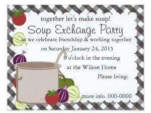 Soup Exchange Custom Invitation