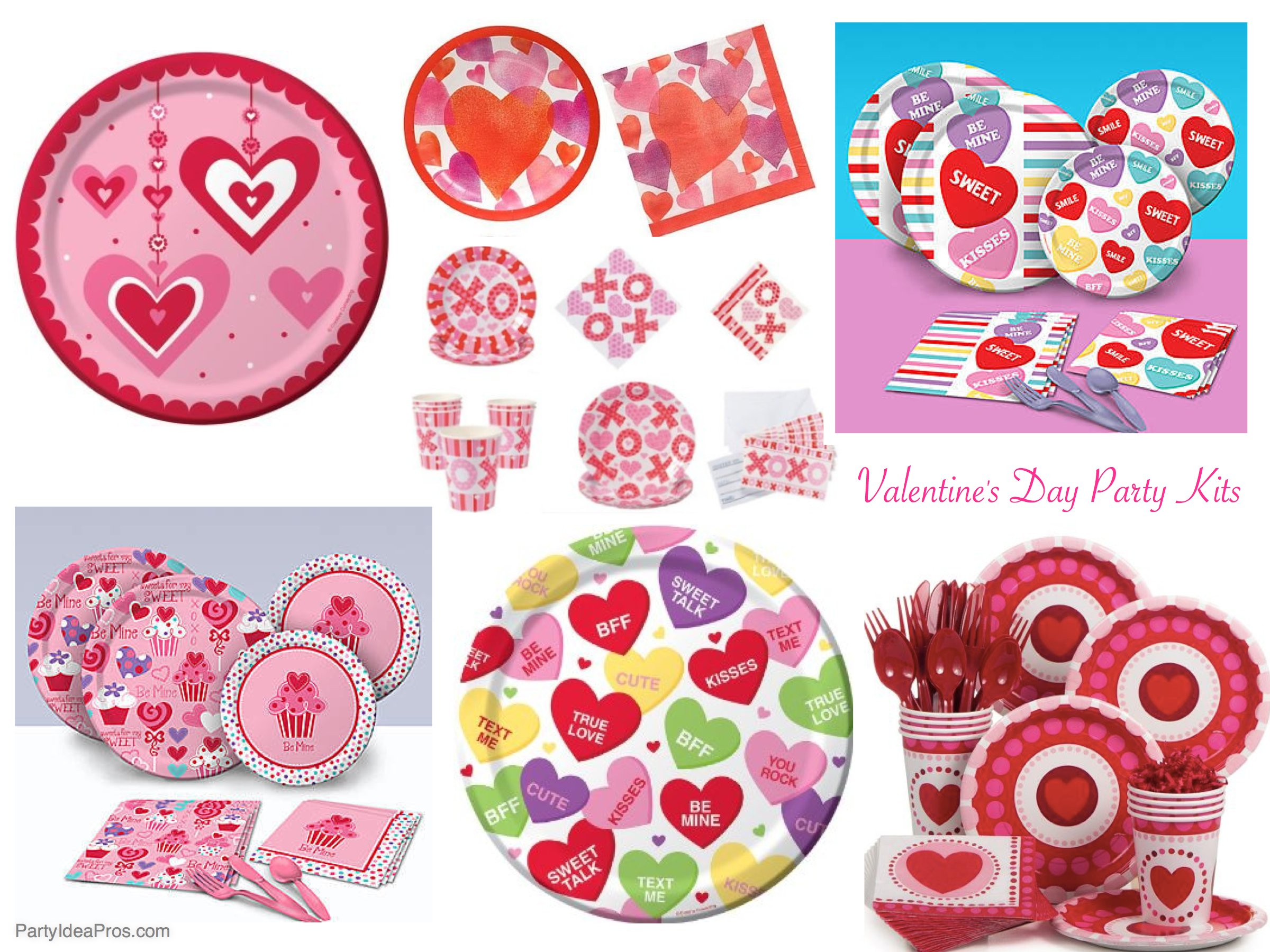 Best Valentines Day Party Kits, Valentine's Day Party Plates