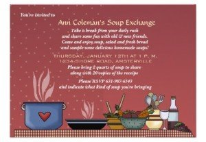 winter soup exchange invitation