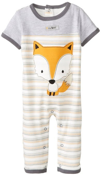 Baby-Boys Newborn Fox Short Sleeve Coverall