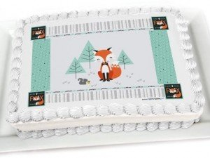Fox Edible Party Cake Toppers