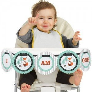 Fox High Chair Birthday Banner