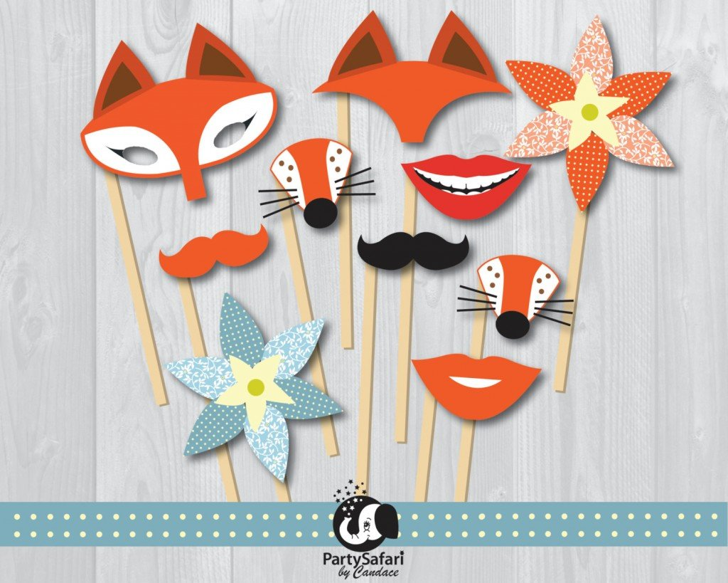 Fox Printable Photo Booth Props