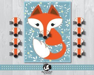 Fox Printable Pin The Nose on the Fox Game