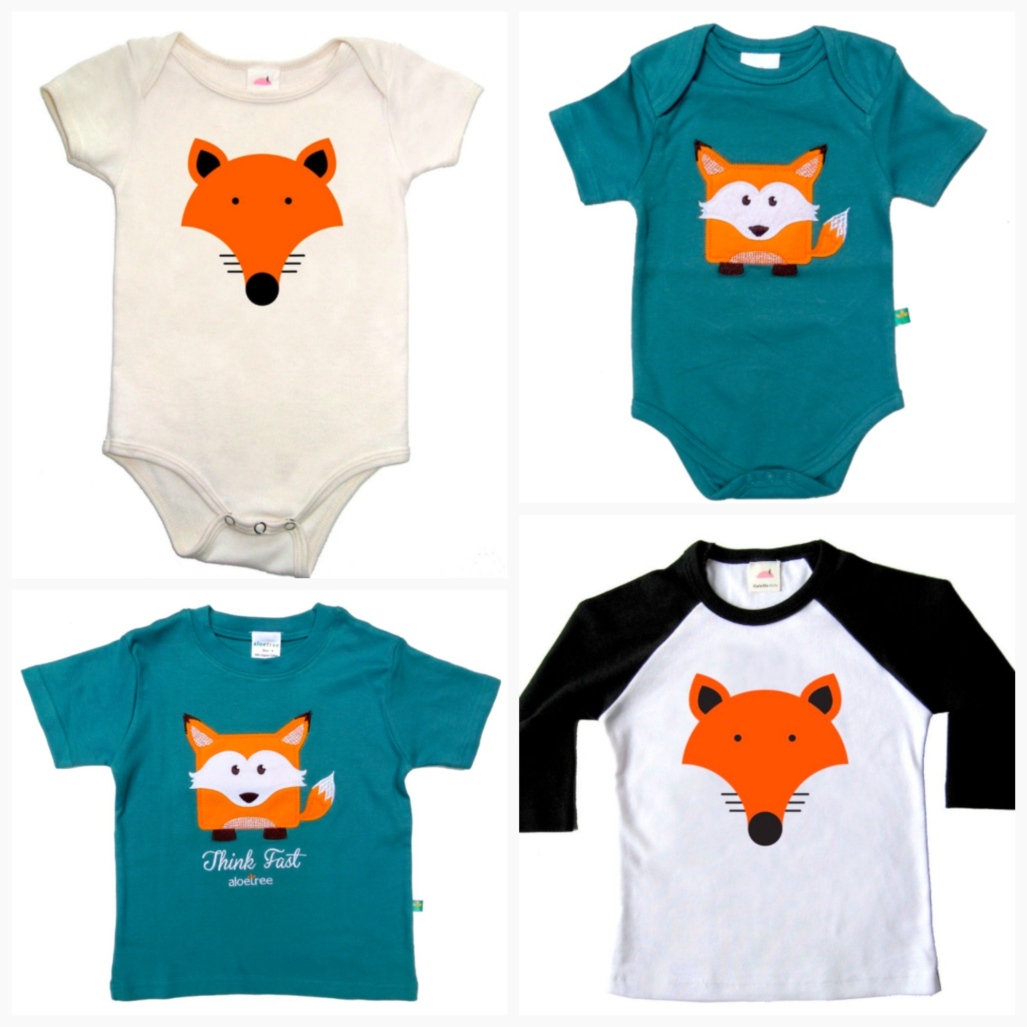Adorable Fox Onesies & Toddler T-Shirts