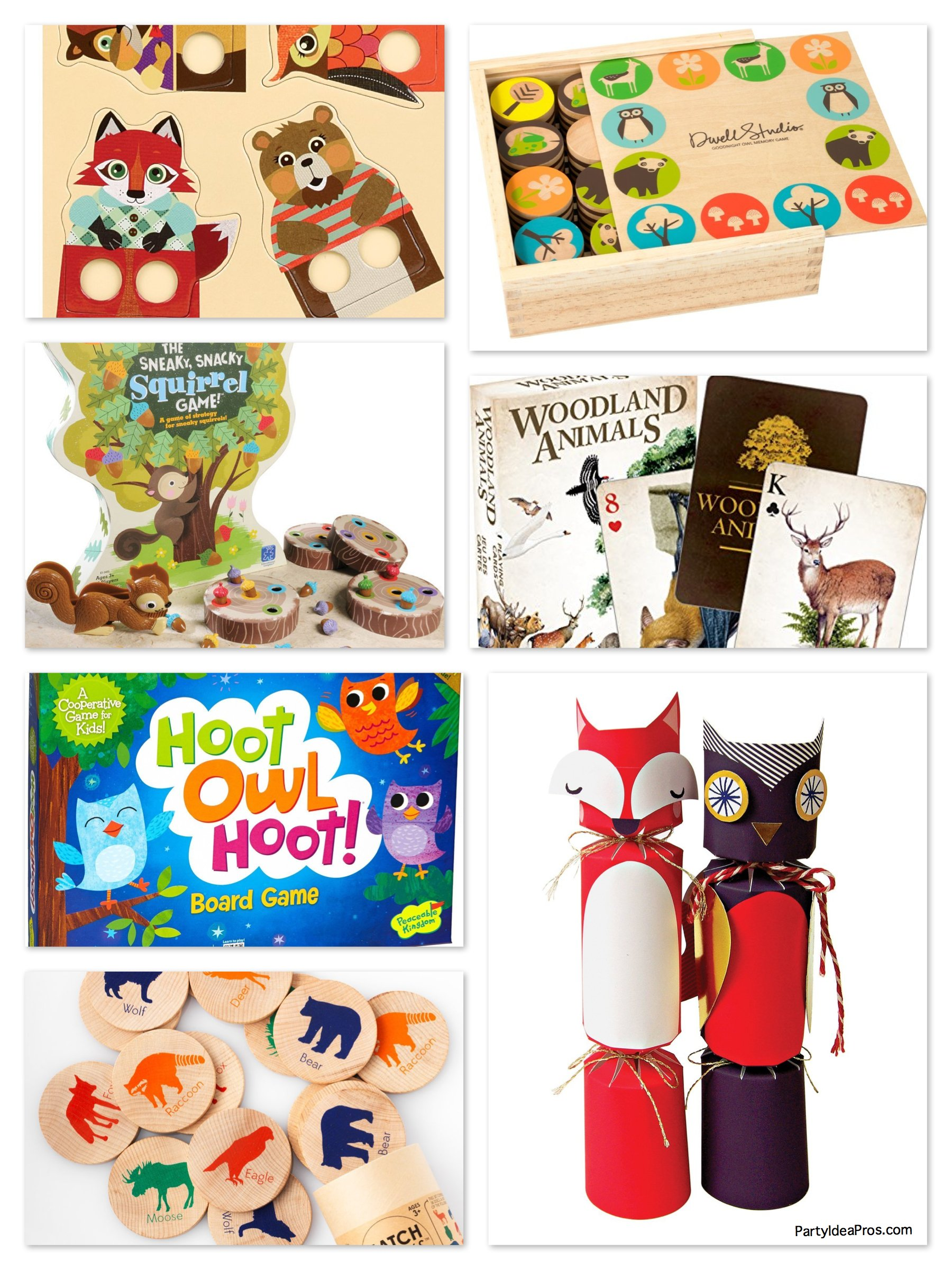 Fox & woodland animal theme games activities