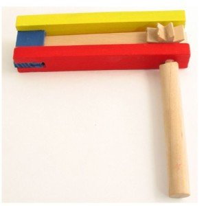Large Colorful Wooden Gragger