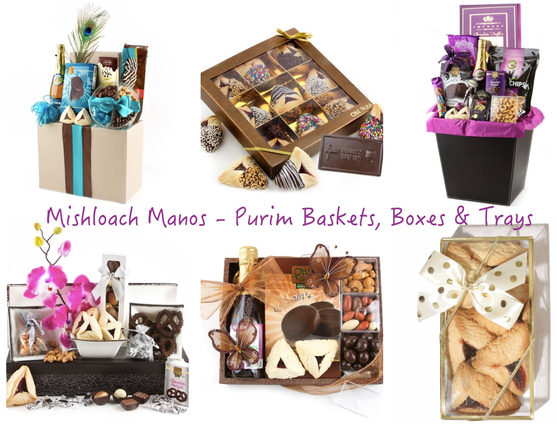 Mishloach Manos - Purim Baskets Boxes Trays