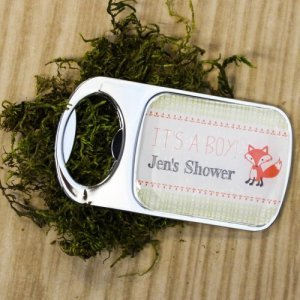 Personalized Baby Fox Themed Bottle Openers