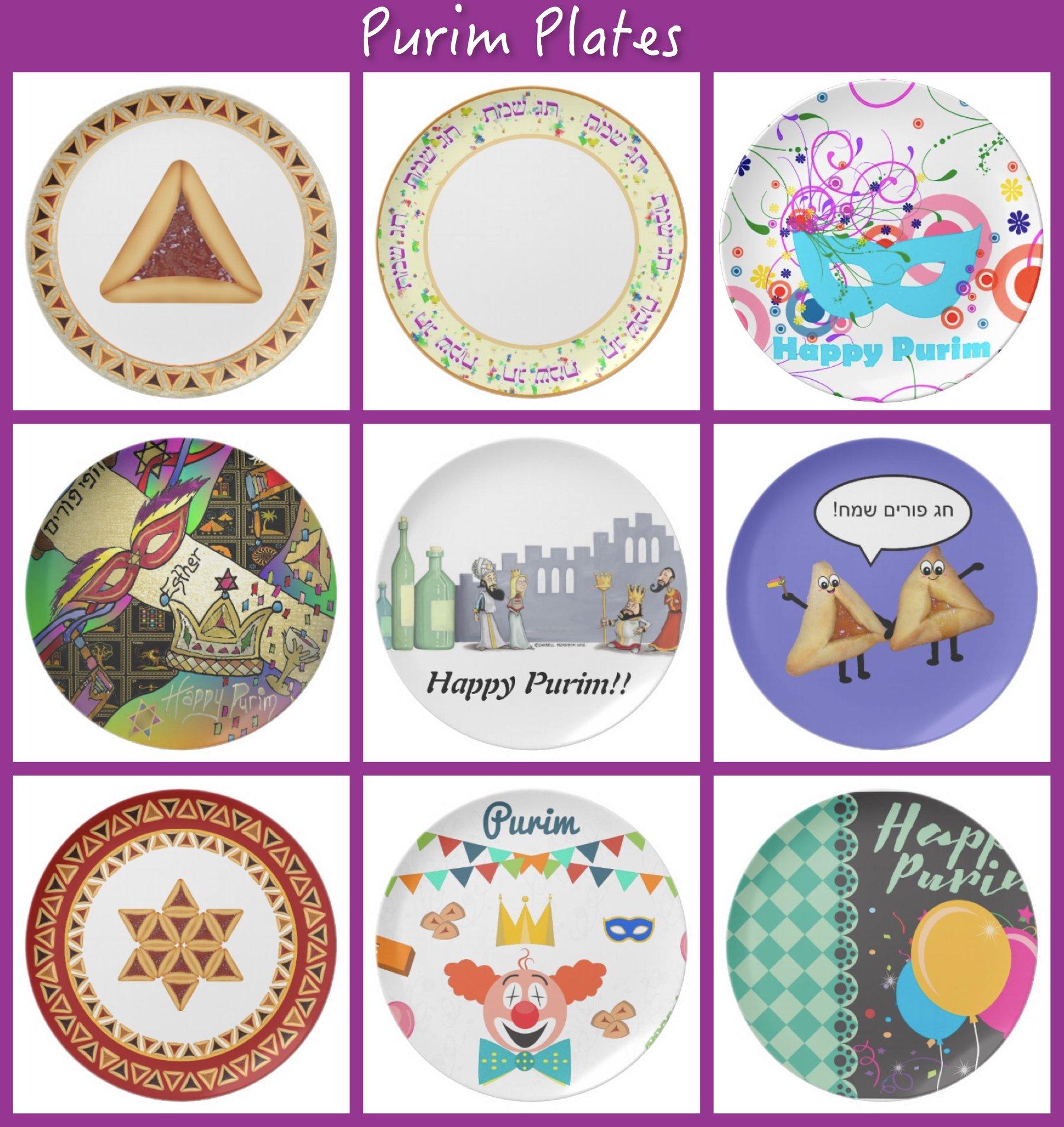Purim Plates