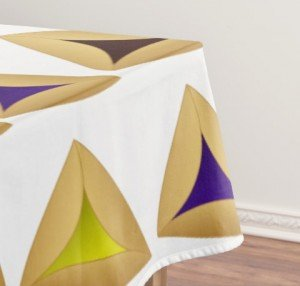 Rows of Hamentashen Tablecloth