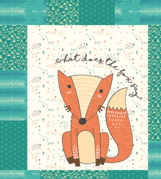 What Does the Fox Say? Quilt Green
